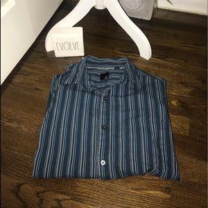 J Ferrar stripe button down shirt